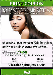 55% off Hair Extensions for clinto with thin hair