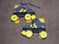 Rookie Retro Quad Blue & Yellow Roller Skates - UK SIZE 13 JUNIOR