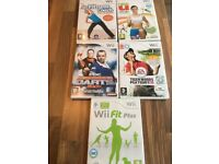 5 various wii fitness/golf games