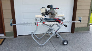 "Bosch 12"" Dual Bevel Miter Saw & Bosch Gravity Rise Stand"