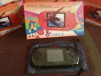 PSP style games console with games