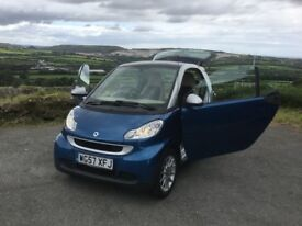 SMART FORTWO PASSION 1.0 SEMI AUTOMATIC 2008 WITH ONLY 57K MILES & FSH 12 MONTHS M.O.T AS OF TODAY