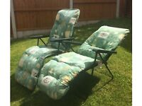 2 x Garden Recliner, Sun Loungers only £15 for both
