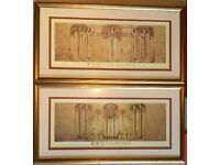 """Charles Rennie Mackintosh pair of Framed Prints: """"The May Queen"""" & """"The Wassail"""""""