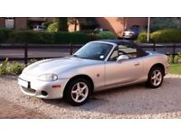Mazda MX5 - SORNed at present. No MOT. Needs welding to sills. 2 owners. Low mileage for year.