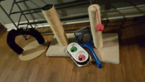 New Cat supplies sold separatly & dog kennels
