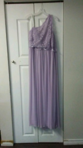 Mauve bridesmaid/grad summer gown