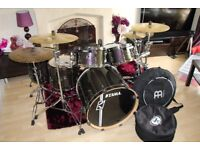 Drum Kit Tama Superstar Hyper-Drive Maple 6pc With Accessories & Meinl Byzance Cymbals £1500