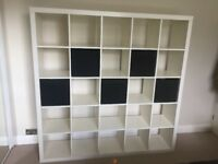 White Ikea Kallax 5x5 bookcase shelf unit