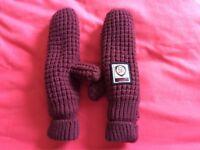 Superdry Purple Knit Mittens