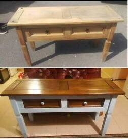 We can transform your old furniture in to art pieces