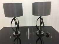 2x Black Gloss stylish Lamps