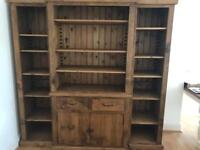 Beautiful, handmade real wood book case - must go by 11am Sunday 23rd July