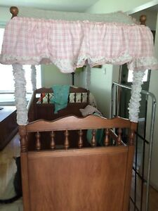 Antique crib with canopy