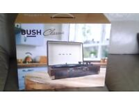 Bush turntable in a suitcase.