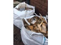 2 ton bags of off wood