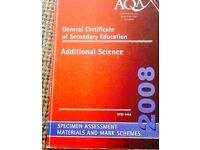 AQA Additional Science specimen assessment and mark scheme