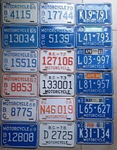 ** Classic Bike? Rare Motorcycle LICENSE PLATES** 1950's and up
