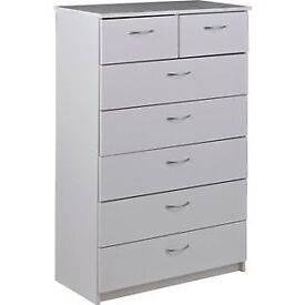 Cheval 5+2 Drawer Chest - White