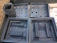 Hydroponics growing trays