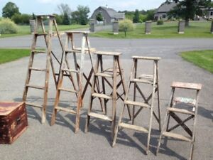Vintage Wood Step Ladders
