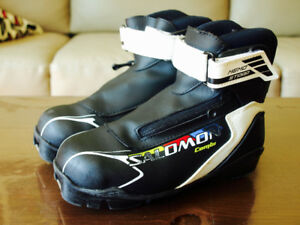 Bottes ski de fond - Cross country ski boots Salomon Jr  2