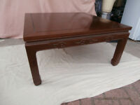 Coffee Table - Oriental style square table in mahogany