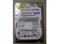 "2.5"" HDD of 120GB, 250GB, 60GB & 40GB for £25 negotiable or exchange"