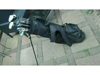 Trident golf clubs and bag.