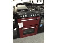 Red leisure gas cooker. Double oven. RRP £549. 12 month gtee