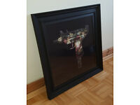 """RARE Magnus Gjoen - """"Flowers Grow Out of Dark Moments"""" Framed Picture Print Art - Banksy Hirst Koons"""