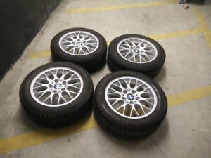 Authentic BMW BBS rims wheels 205/55R16 Michelin winter tires