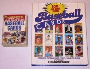 2 Book Lot - Collecting Baseball Trading Cards (USED)