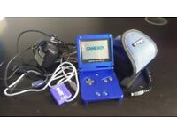 GameBoy Advance SP RETRO BUNDLE- with games MarioKart, Pokemon; FireRed, Emerald. ALL GENUINE