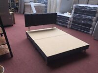 5ft Grey King Size Upholstered Bed Frame with Headboard