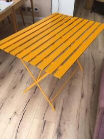 Habitat Parc Yellow Folding Table