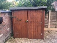 Garden shed, small, wooden