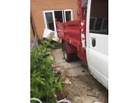 Ford transit tipper with long mot