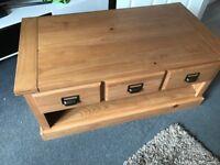 Solid wood coffee / tv unit
