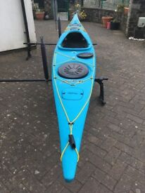 P & H Scorpio MKII Sea Kayak Turqoise blue.fitted with scudder .Exceptional condition 2 months old
