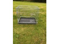 Silver dog cage