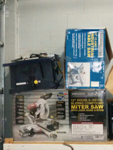 """12"""" Table saw and 12"""" sliding miter"""