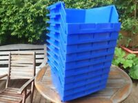 10 big stacking storage boxes / ideal craft - toys etc 16 x 16 x 9 inches