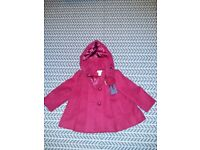 monsoon red coat 12-18months