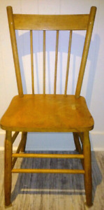 Antique EATON Chair NATURAL HARDWOOD Vintage