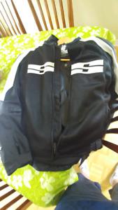 Manteau moto et bottes