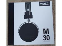 Brand New Sealed - WESC M30 On-Ear Wired Headphones - Black