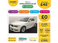 WHITE BMW 123D 2.0 M Sport Coupe 2011 204bhp FROM £46 PER WEEK!