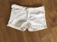 Mango White Shorts Size 10