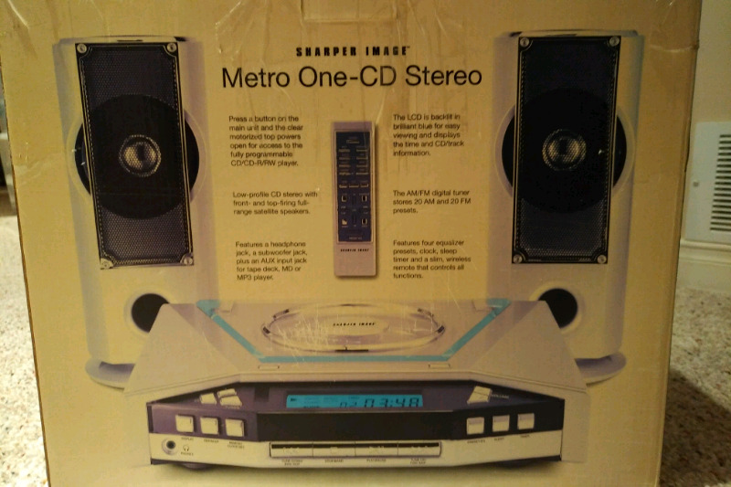 Sharper Image Metro One Cd Stereo System Powered Subwoofer